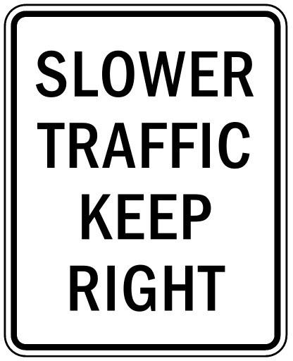 Traffic: Fast Lane vs. Slow Lane