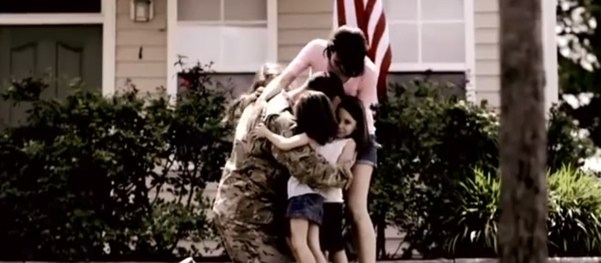 Montage of Military Family Reunions
