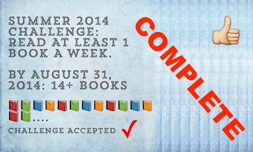Summer Reading Challenge Completed!